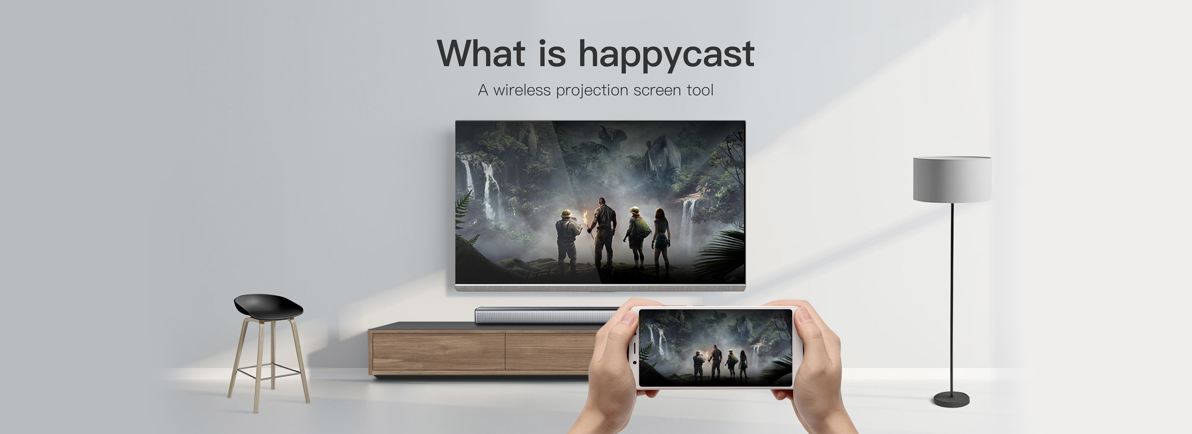 What is HappyCast? What is the screen mirroring tool? Introduction to HappyCast. How to use HappyCast? With just one click, you can connect HappyCast to the screen.